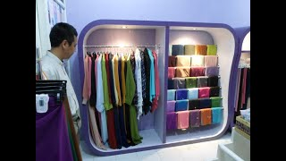 Display Etalase Rak Jilbab | Etalase Hijab Wanita | Display Etalase Toko Pakaian | 081390840100