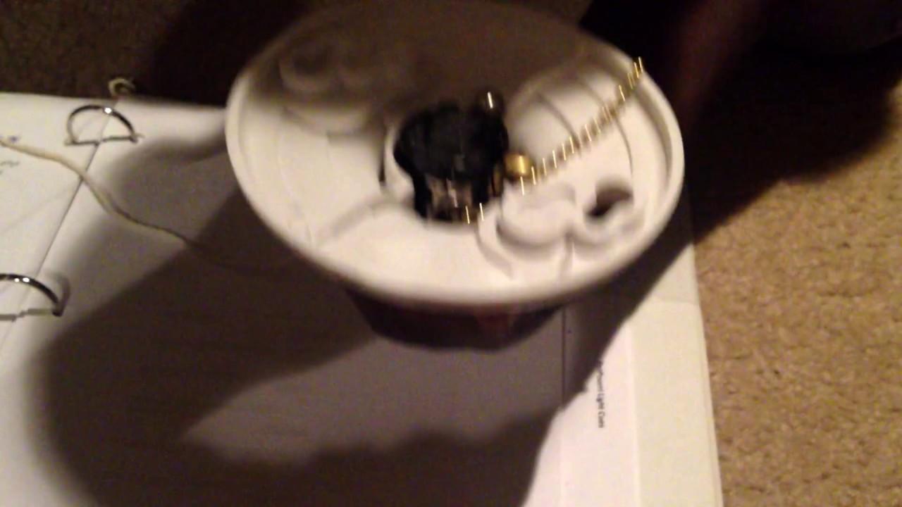 Replacing Broken Pull Chain For Light Bulb Youtube