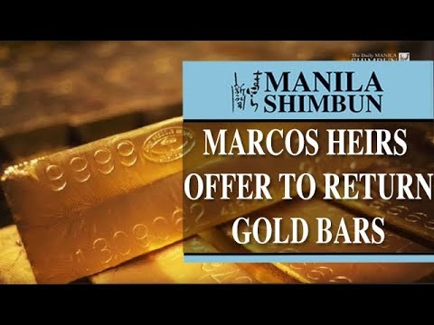 Marcos heirs offer to return gold bars, other ill-gotten wealth: Duterte