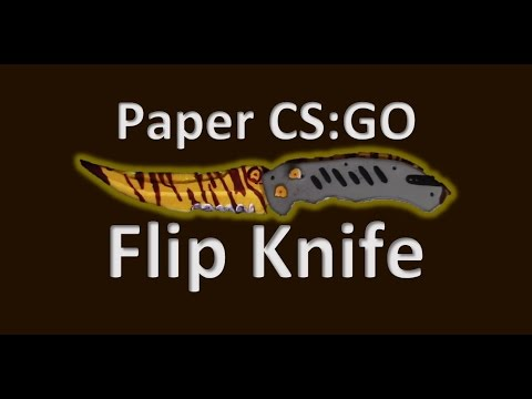 How to make Paper Flip Knife from CS:GO