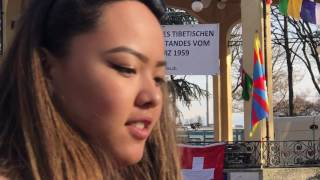 Sonam Tashi at the 58th Womens uprising day in Zurich