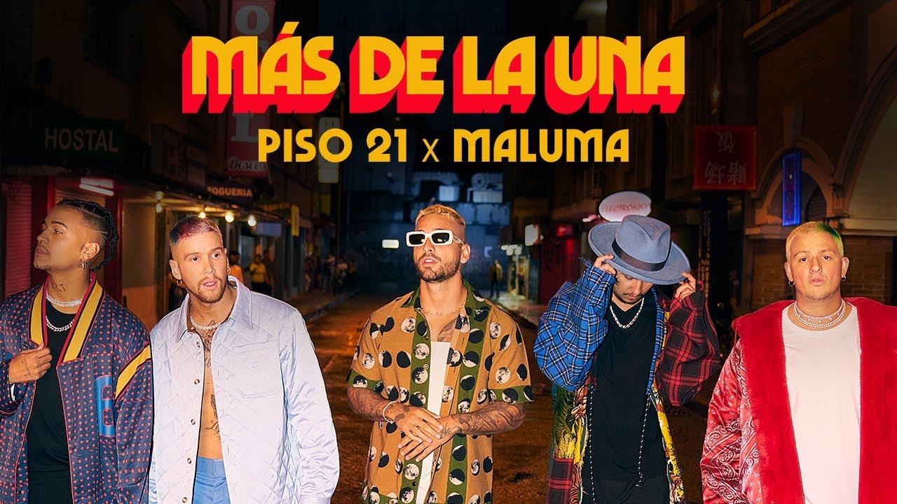 Piso 21 & Maluma - Más De La Una (Video Oficial) - YouTube