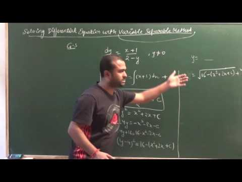 Solving Differential Eq with Variable Separable Method|  CBSE 12 MathsNCERT Ex 9.4 intro