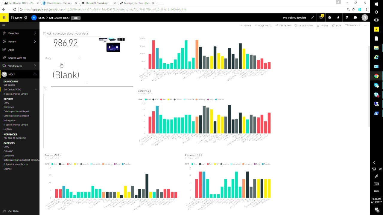 Leverage Power BI Integration with PowerApps and Microsoft Flow for Action  on Real Time Data