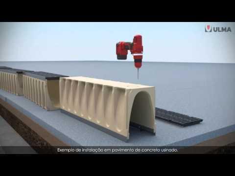 Como instalar canais de drenagem pr fabricados ulma for Canaletas de agua leroy merlin