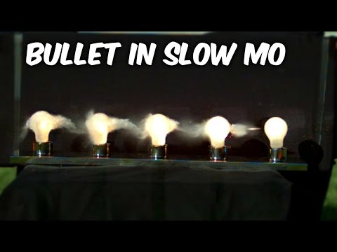 YouTuber captures bullet whacking five light bulbs at 62,000 frames per second