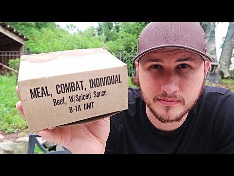 Vintage US MRE C Ration Unboxing