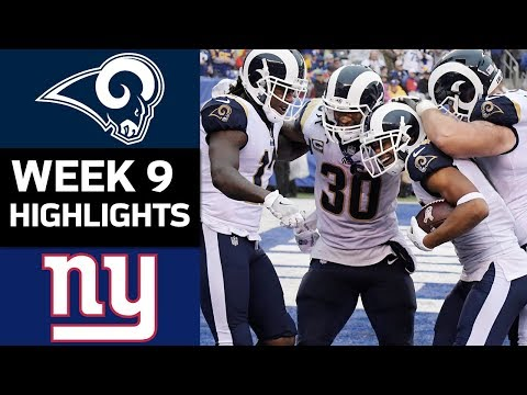 Rams vs. Giants | NFL Week 9 Game Highlights