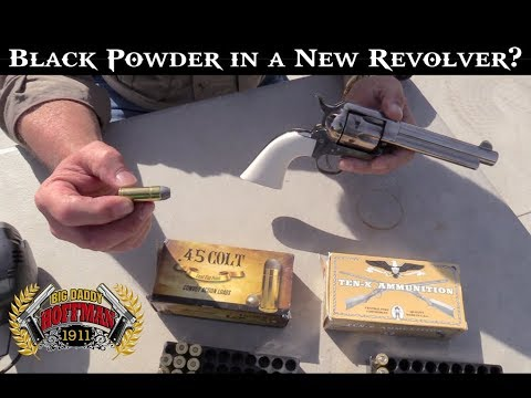 Shooting Black Powder  45 Colt Cartridges in a New Revolver