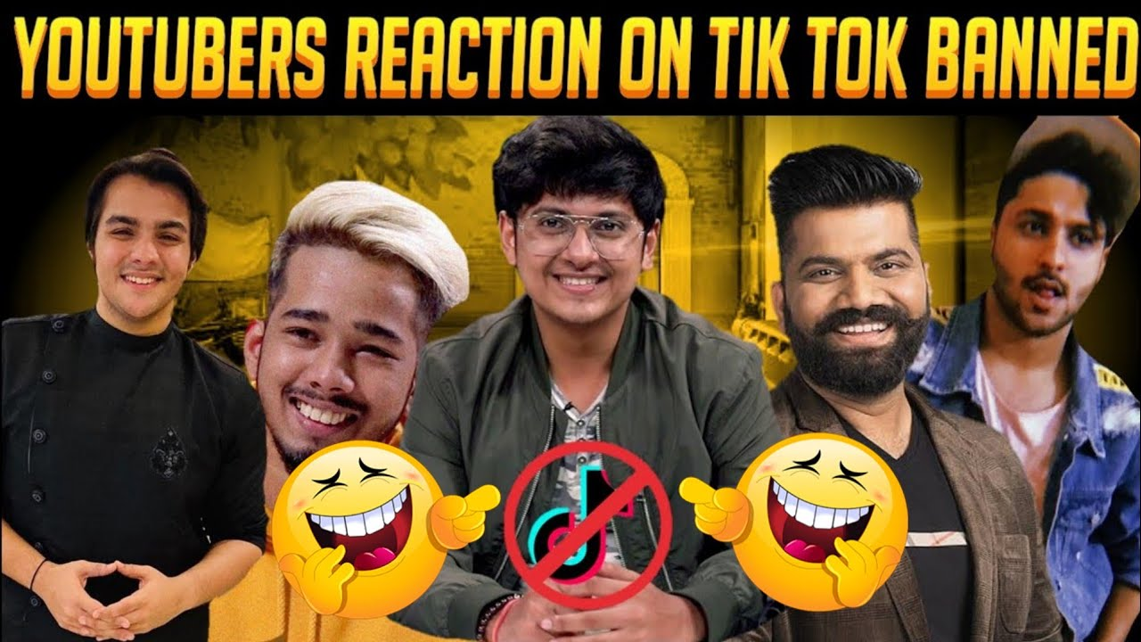 Youtuber's Reaction On TIK TOK BANNED | Mortal On Tik Tok Ban | Scout On Tiktok Ban | Guruji Harsh