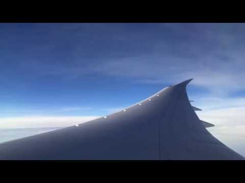 40,000ft in a Boeing 787 Dreamliner ... :)