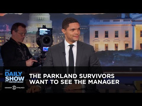 Between the Scenes – The Parkland Survivors Want to See the Manager: The Daily Show