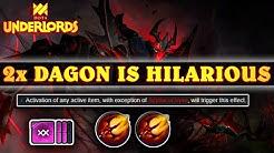 DOUBLE Dagon w/ Warlocks  = Insanely Crazy (100% Linked Healing) | Dota Underlords
