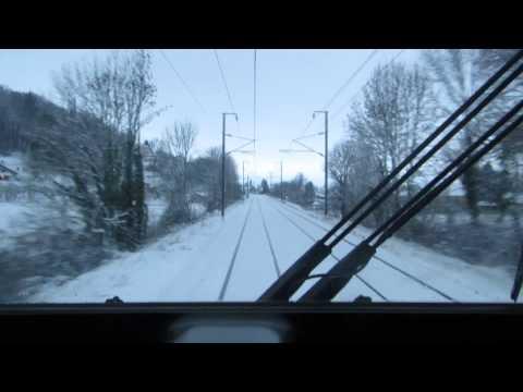 160116 Train : En cabine de La Verpillière à Grenoble
