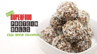 WEIGHTLOSS FOOD Superfood protein balls made with Chia seeds and Flaxseeds! No1. Foodtastic Angelina