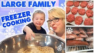 Large Family Freezer Cooking: 15 Dozen Baked Oatmeal Muffins, Burgers, Tuna Cakes, | Freezer Meals