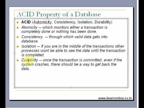 ACID Property of Databases