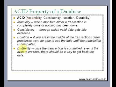 ACID Property of Databases