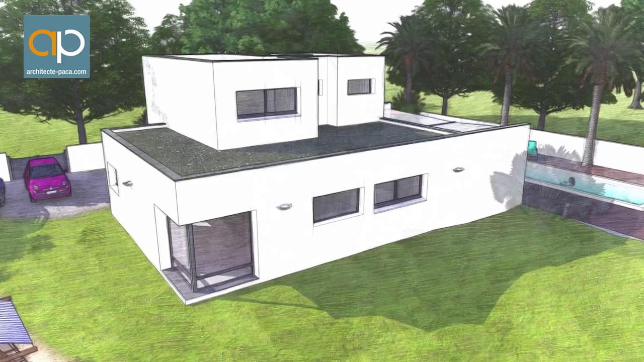 Exemple de maison contemporaine d 39 architecte architecte for Maison contemporaine paca