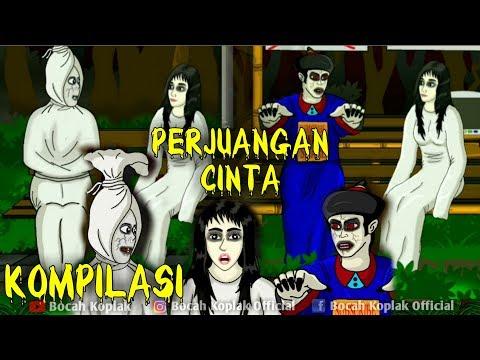 Kompilasi Pocong & Vampir Mengejar Cinta Kunti Vol 1 Kartun Hantu Lucu Bocah Koplak