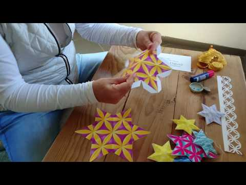 Watch My Video and Learn How to Craft 3 Dimensional Paper Stars of David Decorations for Hanukkah ✡