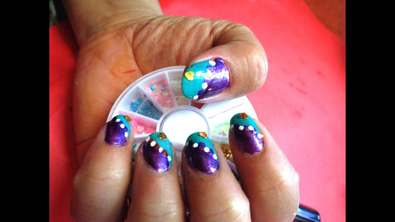 fancy nail art design - K8 - YouTube