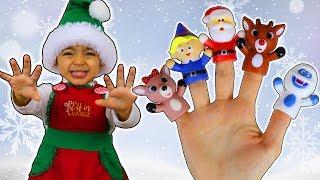 Christmas Finger Family   Leah's Play Time Nursery Rhymes & Kids Songs