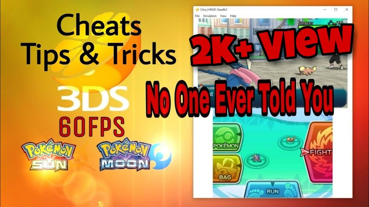 Citra Emulator For Pc 60 FPS Solved, Truth Revealed, For Low End PC,
