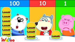 100 Layers Food Challenge - Wolfoo Learns Good Manners for Kids When Eating Buffet | Wolfoo Channel
