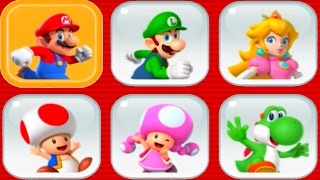 Super Mario Run - All Characters Unlocked + Gameplay
