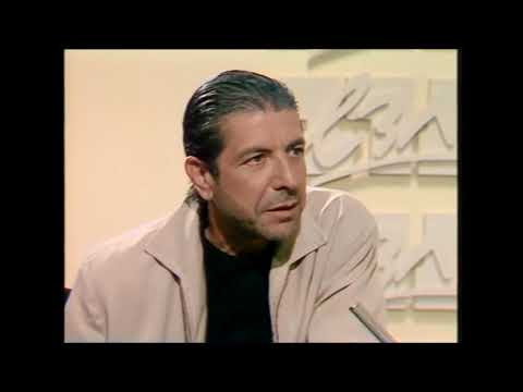 Leonard Cohen on Israeli TV, 1985, a rare interview