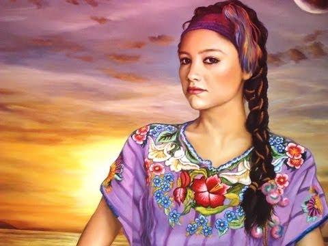 Como Pintar Un Cuadro Retrato De Mujer Youtube