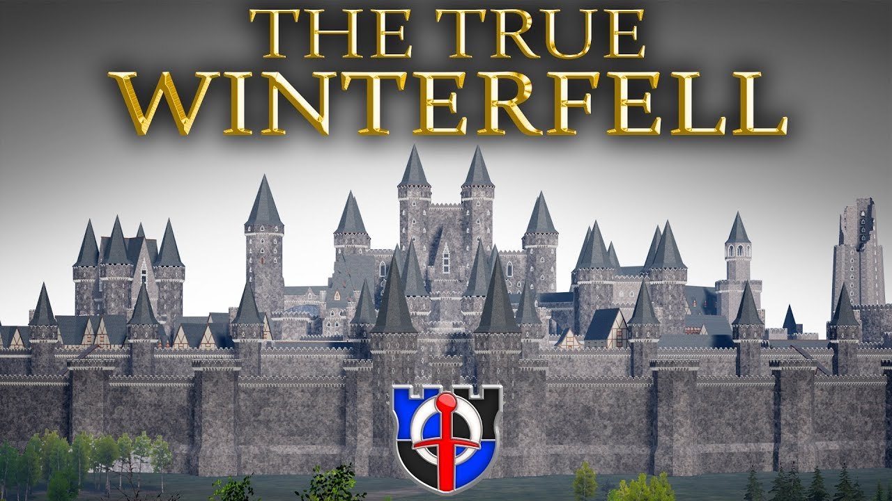 Download The True WINTERFELL according to the books, EPIC 3d model, tour and comparison