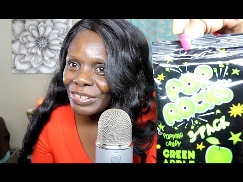 Eating Pop Rocks Candy ASMR Mouth Sounds 👅 🍏 Sour Apple