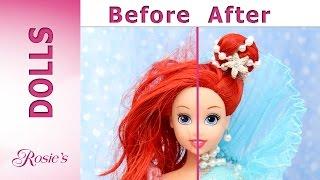 Little Mermaid Ariel's Makeover Part 3 - Aqua Fantasy Hair, Face, Earrings