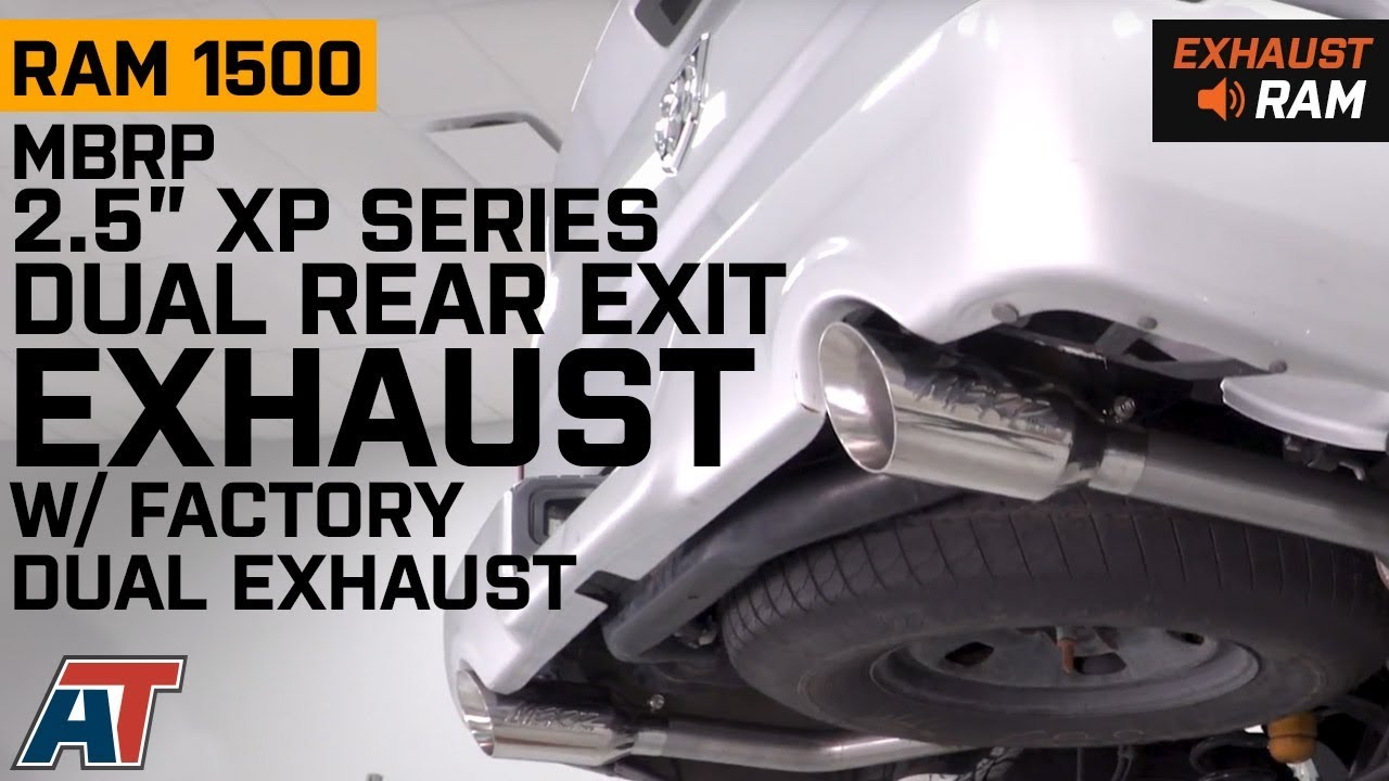 MBRP 2 5 in  XP Series Dual Exhaust System - Rear Exit (09-18 5 7L RAM 1500  w/ Factory Dual Exhaust)