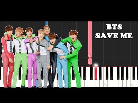 Bts - Save Me (EASY Piano Tutorial)