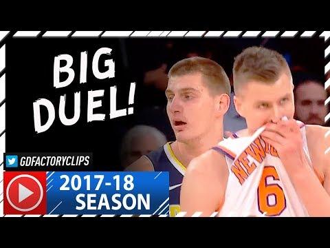 Kristaps Porzingis vs Nikola Jokic BIG MEN Duel Highlights (2017.10.30) Knicks vs Nuggets - EPIC!