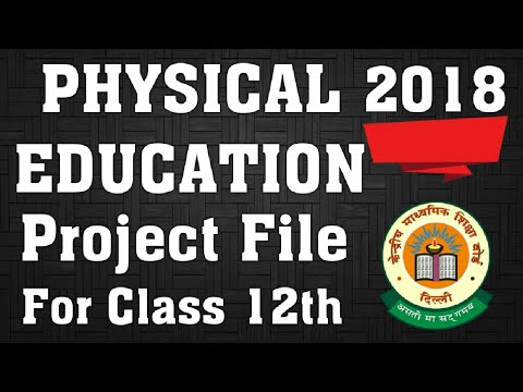Physical education file for class 12th in Hindi