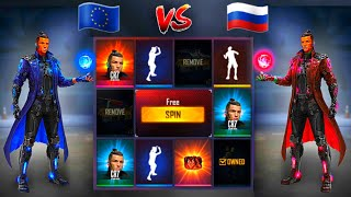 CHALLENGE 💎 europe server vs russia server 🇪🇺 vs 🇷🇺 free fire | تحدي الحظ بين سيرفرين 🔥