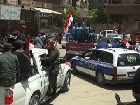 সরকারি বাহিনীর অভিযানে রাস্তান ছাড়ছে সিরিয়ার বিদ্রোহীরা | Syria News | Somoy TV