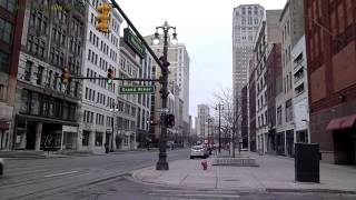 Streetscenes of Downtown Detroit in 1080p