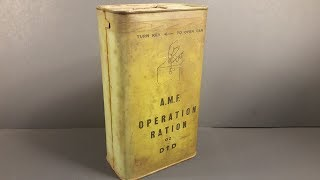 1945 Australian 24 Hour Operation Ration 02 MRE Review Vintage Meal Ready to Eat Taste Test