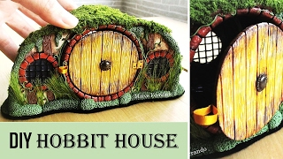DIY Polymer Clay Hobbit House Jar/Lantern    Maive Ferrando