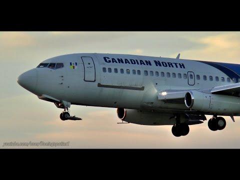 CLASSIC 737-200 Sunset Landing in Ottawa