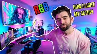 TRANSFORM your GAMING SETUP with RGB Lighting! 🌈 How I light my Gaming Room!