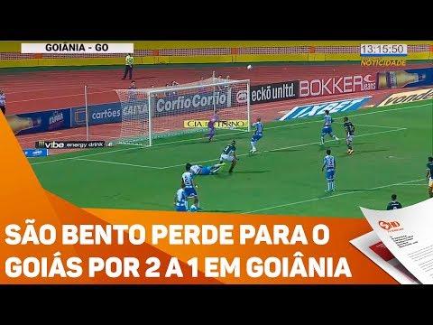 São Bento perde para o Goiás por 2 a 1 em Goiânia - TV SOROCABA/SBT