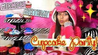 Happy Birthday Mercedes - Cupcake Decorating Party - BeGummy : VLOG  IT // GEM Sisters