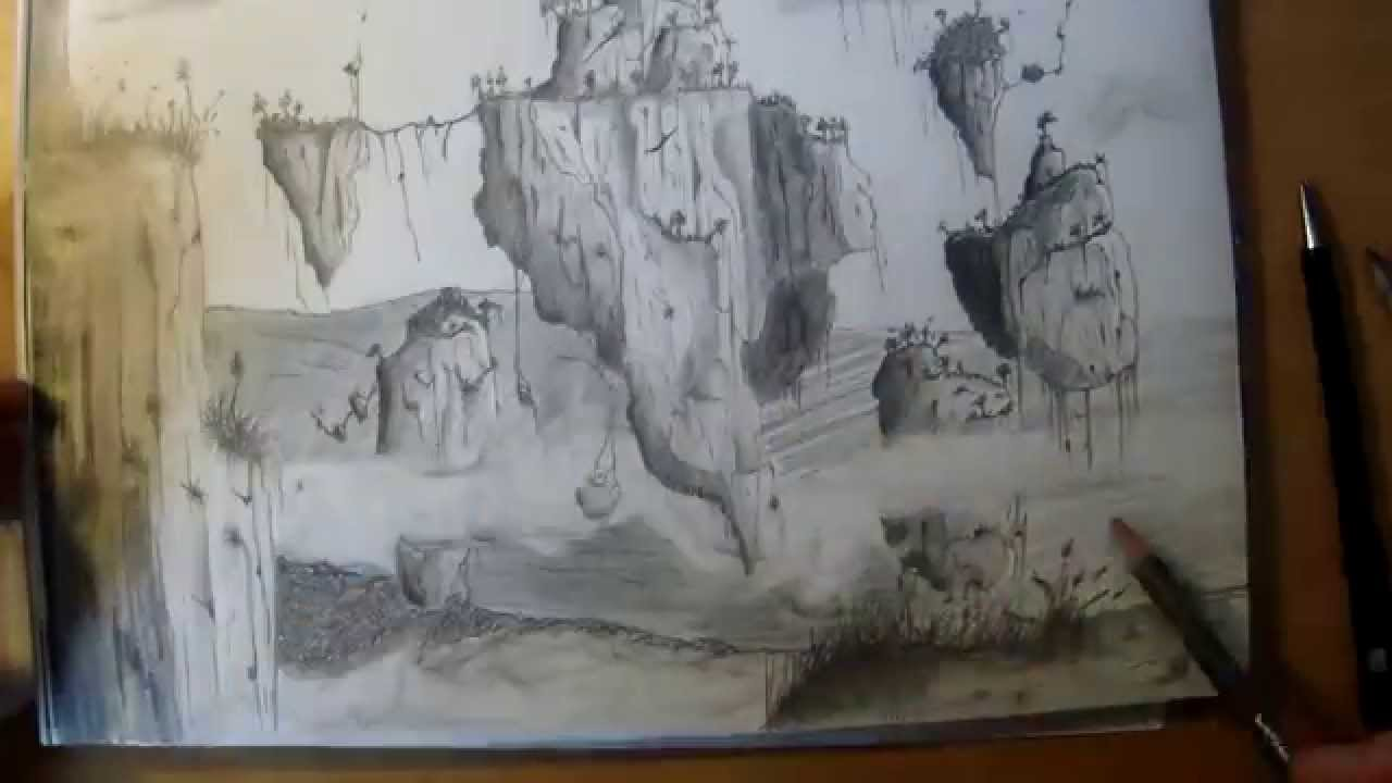 Speed Drawing Avatar Landscape Paysage Avatar Dessin Youtube