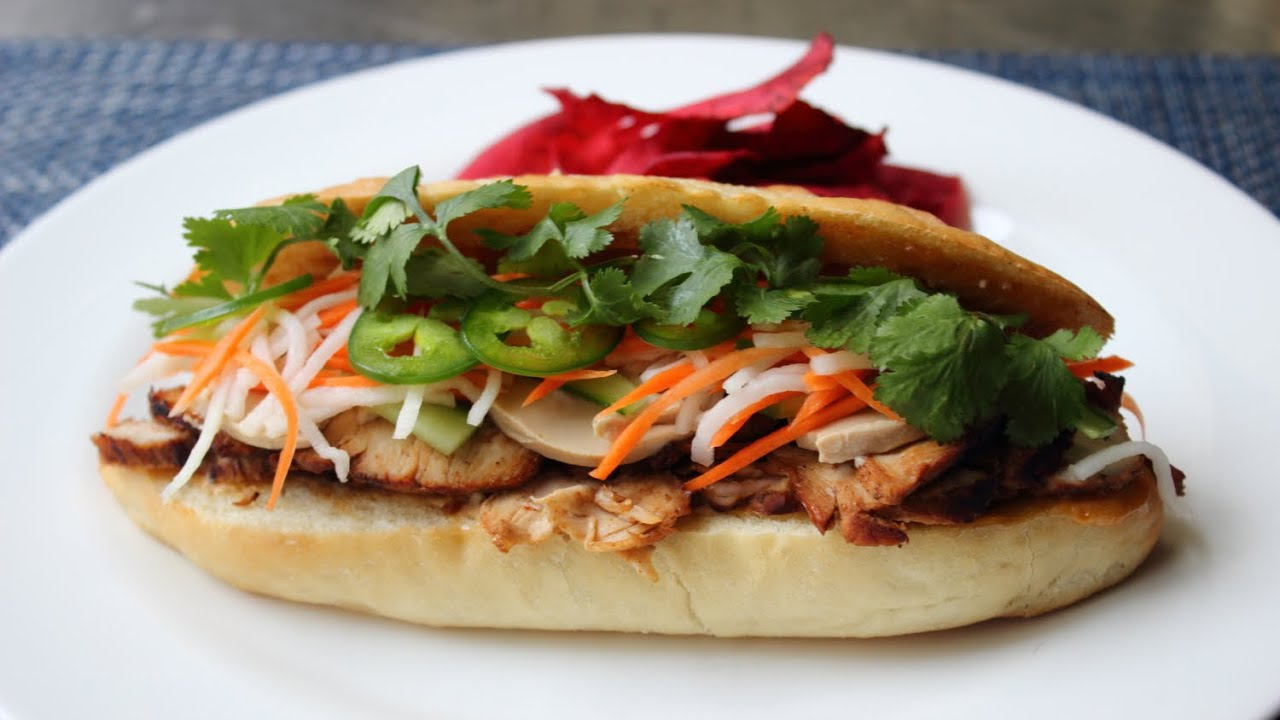 Banh Mi Sandwich How To Make A Banh Mi Vietnamese Style Sandwich Youtube